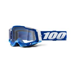 GAFAS 100% RACECRAFT 2 AZUL/TRANSPARENTE