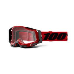 GAFAS 100% RACECRAFT 2 ROJO/TRANSPARENTE